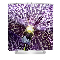 Power Of Purple Shower Curtain by Karen Wiles