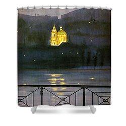 Prague Shower Curtain by Georgia Fowler