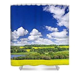 Prairie Panorama In Saskatchewan Shower Curtain by Elena Elisseeva