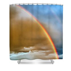 Prairie Rainbow Shower Curtain by Ellen Heaverlo