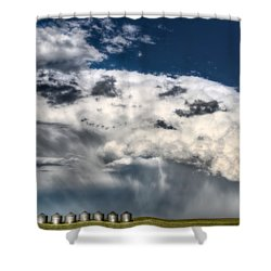 Prairie Storm Clouds Shower Curtain by Mark Duffy