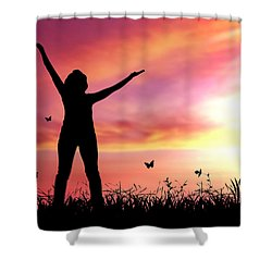 Praise The Lord Shower Curtain by Aged Pixel