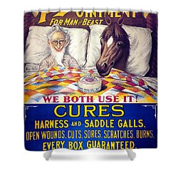 Pratts Healing Ointment Shower Curtain by Science Source