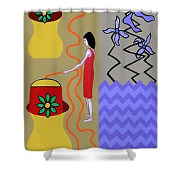 Precious Water Shower Curtain by Patrick J Murphy