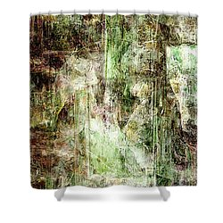 Precipice - Abstract Art Shower Curtain by Jaison Cianelli