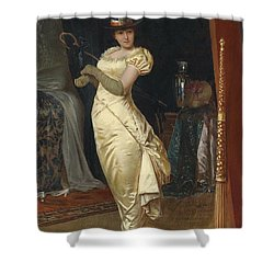 Preparing For The Ball Shower Curtain by Frederick Soulacroix