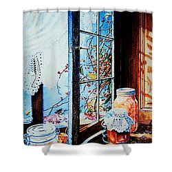 Preserving The Harvest Shower Curtain by Hanne Lore Koehler