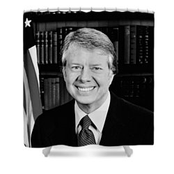 President Jimmy Carter  Shower Curtain by War Is Hell Store