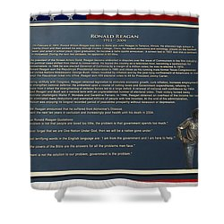 President Ronald Reagan Plaque Shower Curtain by Thomas Woolworth