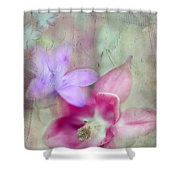 Pretty Flowers Shower Curtain by Annie Snel