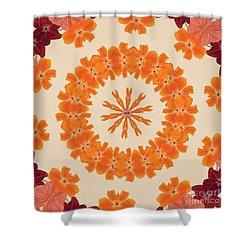 Pretty In Orange Shower Curtain by Lena Photo Art