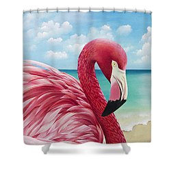 Pretty In Pink Shower Curtain by Carolyn Steele