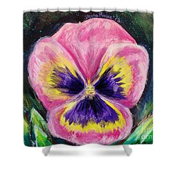 Pretty Pink Pansy Person Shower Curtain by Shana Rowe Jackson