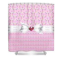 Pretty Pink Princess Shower Curtain by Debra  Miller