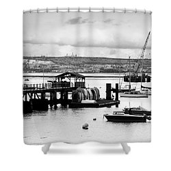 Priddy's Hard Boats Shower Curtain by Terri Waters