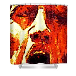 Primal Shower Curtain by Larry E Lamb