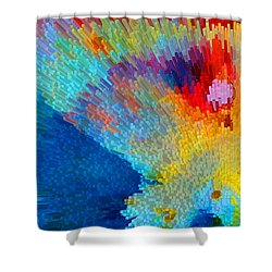 Primary Joy - Abstract Art By Sharon Cummings Shower Curtain by Sharon Cummings