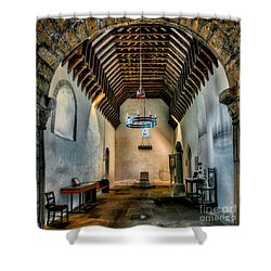 Priory Church Of St Seiriol Shower Curtain by Adrian Evans