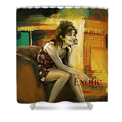 Priyanka Chopra Shower Curtain by Corporate Art Task Force