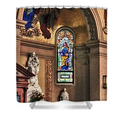 Projections Of Faith Shower Curtain by Gary Yost