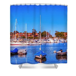 Promontory Point - Newport Beach Shower Curtain by Jim Carrell