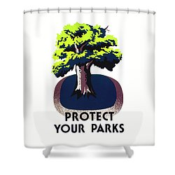 Protect Your Parks Wpa Shower Curtain by War Is Hell Store
