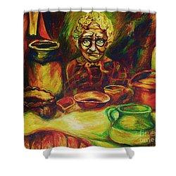 Proverbs 31 Woman Shower Curtain by Carole Spandau