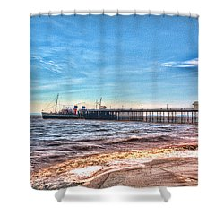 Ps Waverley At Penarth Pier 2 Shower Curtain by Steve Purnell