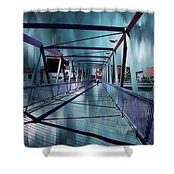 Puente De La Trinidad 1. Malaga Bridges. Spain Shower Curtain by Jenny Rainbow
