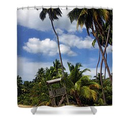 Puerto Rico Palms II Shower Curtain by Madeline Ellis