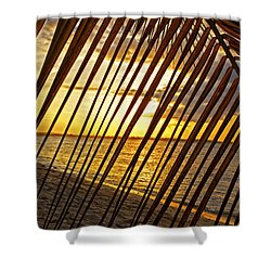 Puerto Rico Sunset 2 Shower Curtain by Stephen Anderson