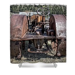 Pulling End Of Mccormick-deering Tractor Shower Curtain by Daniel Hagerman