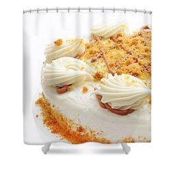 Pumpkin Spice Drizzle Cake 2 Shower Curtain by Andee Design