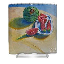 Pure Heart Shower Curtain by Vanessa Hadady BFA MA
