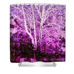 Purple Forest Fantasy Shower Curtain by Janine Riley