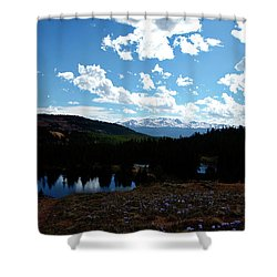 Purple Pasques Popping Shower Curtain by Jeremy Rhoades