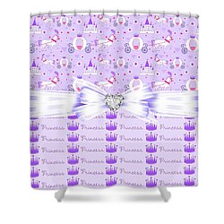 Purple Passion Princess  Shower Curtain by Debra  Miller