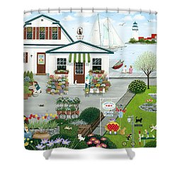 Purr-fect Blooms  Shower Curtain by Wilfrido Limvalencia