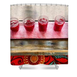 Putting Up Preserves Shower Curtain by Michelle Calkins
