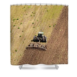 Quad Tractor Shower Curtain by John Ferrante