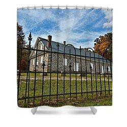 Quaker Meeting House - Warrington Shower Curtain by Mark Jordan