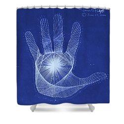 Quantum Hand Through My Eyes Shower Curtain by Jason Padgett