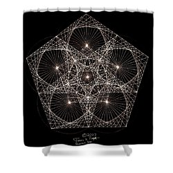 Quantum Star II Shower Curtain by Jason Padgett