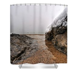 Queen City Winter Wonderland After The Storm Series 0041 Shower Curtain by Michael Frank Jr