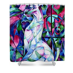 Queen Of Hearts Shower Curtain by Sherry Shipley