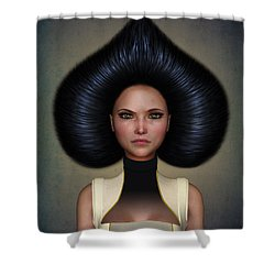 Queen Of Spades Shower Curtain by Britta Glodde
