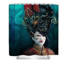 Queen Of The Wild Frontier Shower Curtain by Aimee Stewart