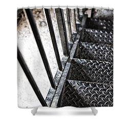 Quiet Stairwell Shower Curtain by Karol Livote