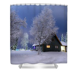 Quiet Winter Times Shower Curtain by Ron Day