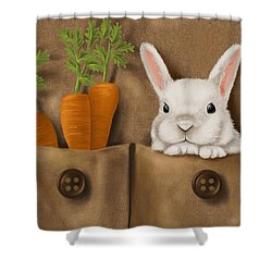 Rabbit Hole Shower Curtain by Veronica Minozzi